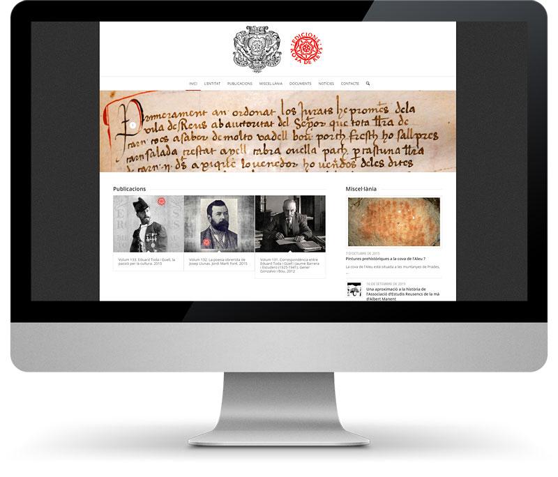 Disseny pàgines web Tarragona Associació d'Estudis Reusencs