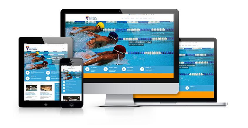 Club Natació Reus Ploms Diseño Web