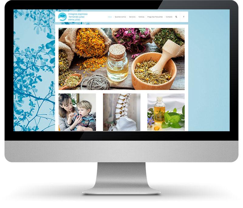 Disseny pàgines web Tarragona Homeopatía y Osteopatía