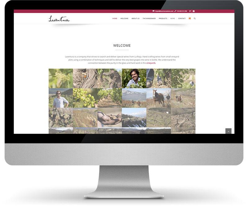 Disseny pàgines web Tarragona Laventura Wines
