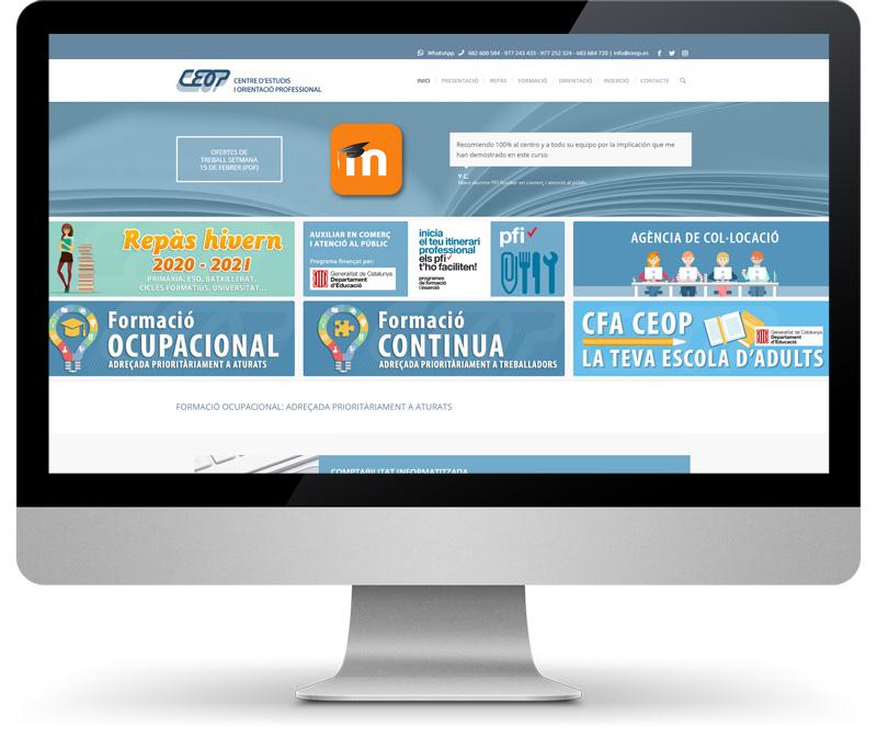 CEOP imatge del web a dins d'un monitor