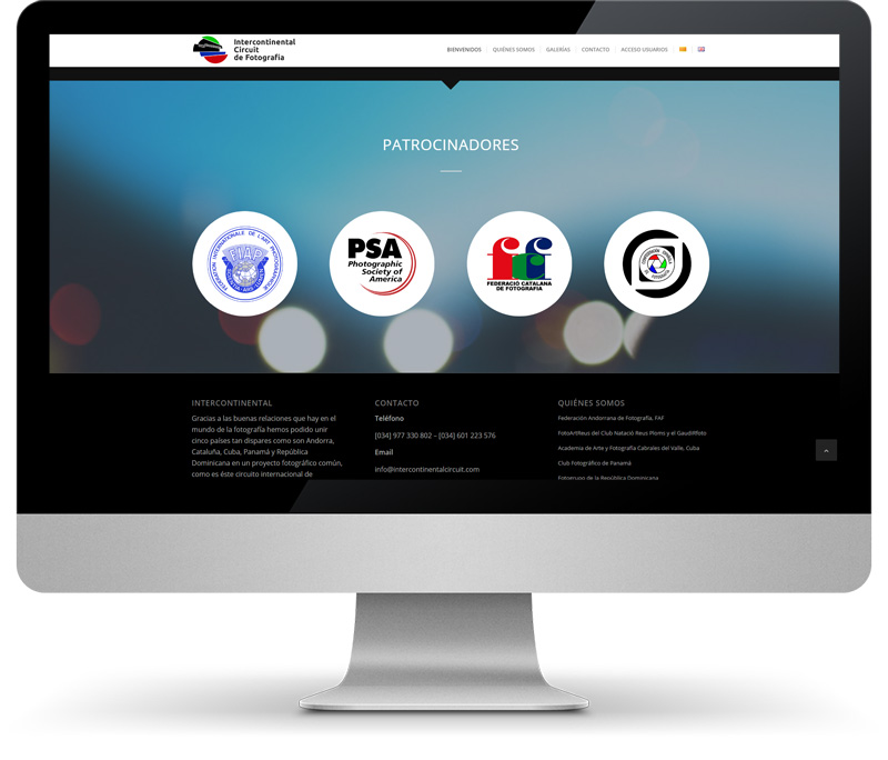 Intercontinental Circuit monitor amb web disseny web
