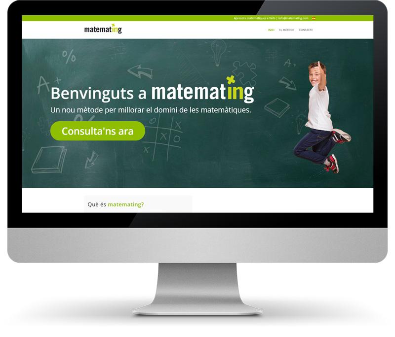 matemating vista del disseny web a un monitor Mandigit