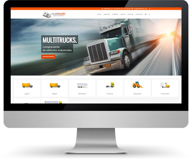 Multitrucks vista en monitor disseny web